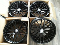 "BRAND NEW 19"" 5X112 CONCAVE ALLOYS FITS VW SCIRROCO & AUDI A5 A6 A7 ALLOY WHEELS BBS STYLE BLACK"