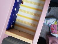 2x dusky pink Hemnes Bedside Drawers