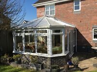 White UPVC Conservatory 3.85m x 3.95m with Victorian Roof