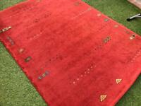 Red patterned Rug 170x230