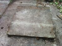 "Paving slabs, 2'x2'x2"" and 3'x2'x2"""