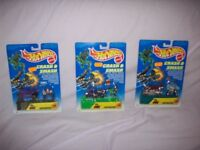 Hot wheels crash and smash motorcycles as new carded 1995 x 3