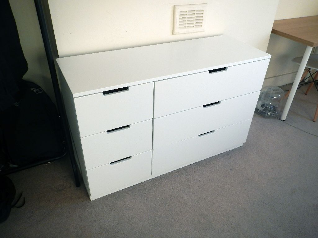 ikea nordli chest of 6 drawers in white 140 new excellent condition in hoxton london. Black Bedroom Furniture Sets. Home Design Ideas
