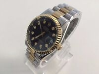 Rolex datejust two tone automatic movement watch