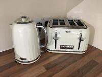 Breville cream kettle and toaster