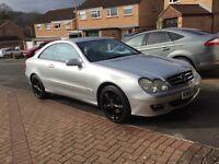 Mercedes clk 270 cdi avantgarde auto 2004(54) face lift model in brilliant silver