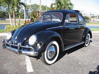 1956 Volkswagen Oval Window Rag Top Original Mile Car