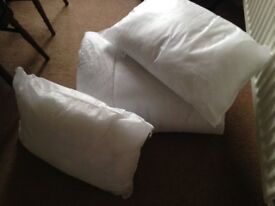 Two hollowfibre pillows and single quilt unused