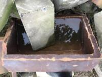 Large salt glazed sink for sale reclamation