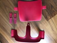 Stokke Tripp Trapp Baby Set & Extended Glider - Red