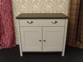 FULLY ASSEMBLED NEW Dove Grey Sideboard 2 Door Drawer Unit