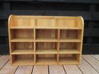 Oak wall mounted open unit