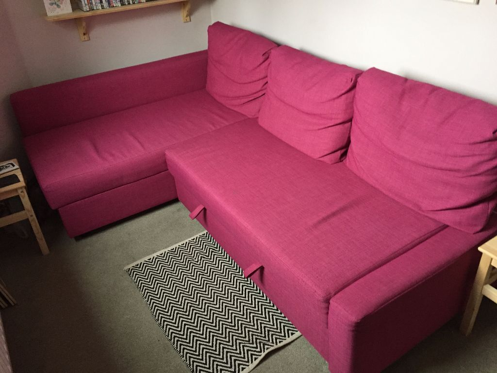 ikea friheten sofa bed pink in leicester leicestershire gumtree. Black Bedroom Furniture Sets. Home Design Ideas