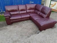 Scs real leather corner sofa immaculate condition