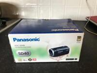 Panasonic SD40 Full HD Camcorder - Camera Re order Black (SD Card Recording, x16.8 Optical Zoom)