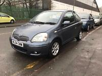 16000 MILES ONLY. 2004 TOYOTA YARIS EDITION BLUE. 1.3 PETROL. ALLOY WHEELS. DRIVES PERFECT.