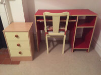 Desk, Chair & Drawers