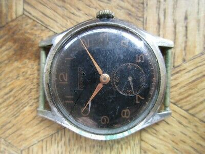 Vintage Used Chromed PONTIAC Manual Watch. Cal. ETA 1260. For parts.