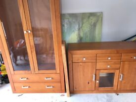 Honey coloured solid pine furniture for sale