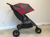 Baby jogger city mini gt in great condition, red and grey colour