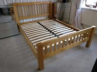 Schreiber Constable King Size Bed Frame - Solid Oak With Oak Veneers