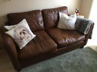 DFS Large 2 Seater Leather Sofa