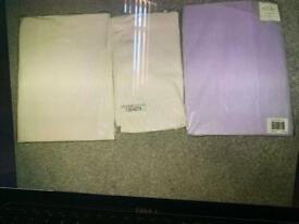 3 sets brand new fitted bed sheets