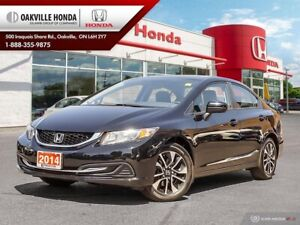 2014 Honda Civic 1-Owner|Clean Carfax|Low KMS|Sunroof|Blind-Spot