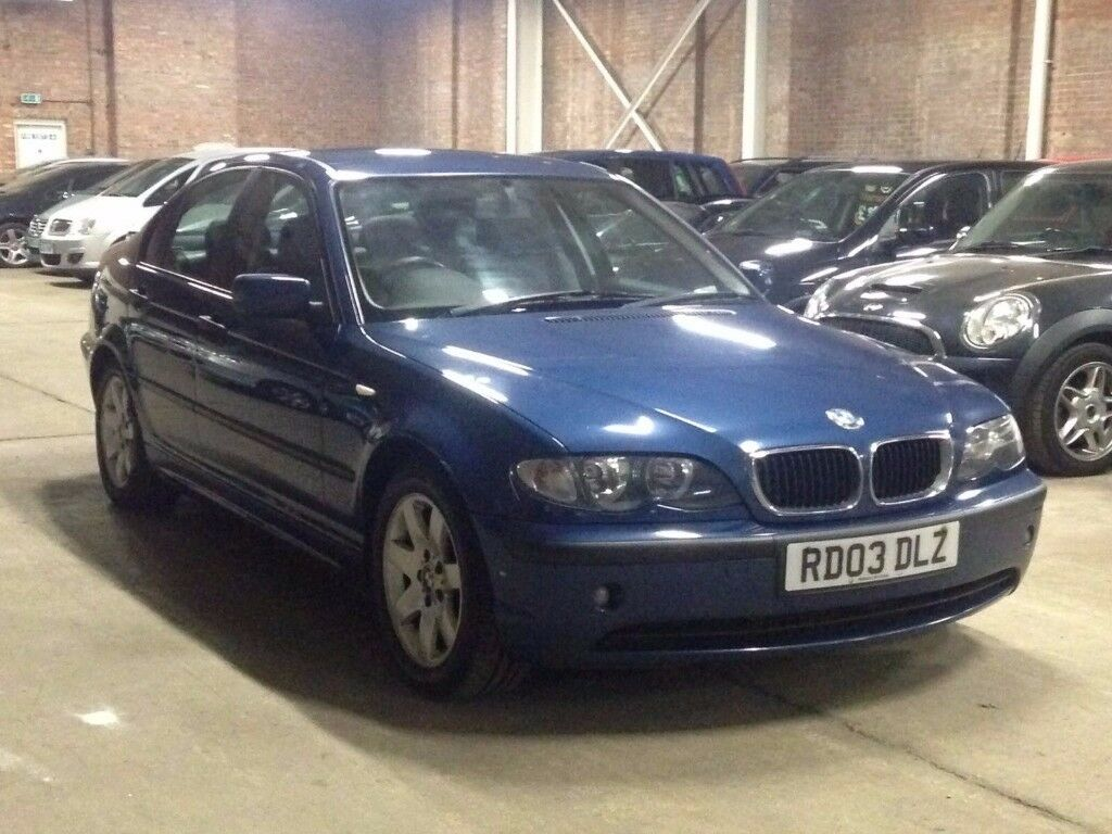 BMW 320d 2003 (03 REG)**£999**12 MONTHS MOT*BLACK LEATHER INTERIOR*DIESEL*PX WELCOME*DELIVERY