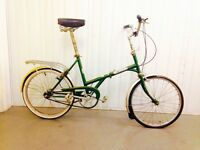Vintage Folding bike Three speed Hub Gears Ideal for Commuting