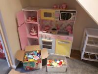 Kidkraft large wooden kids toy kitchen with loads of accessories