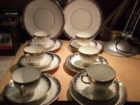 diamond china plates cups and saucers