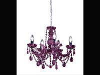 Purple Plum Blackcurrant 5 light Chandelier
