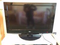LCD LG TV (32 inch) & Free TV bench