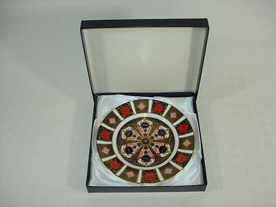 """Royal Crown Derby Old Imari 1128  - 8.5"""" Plate - Boxed 1st Quality"""