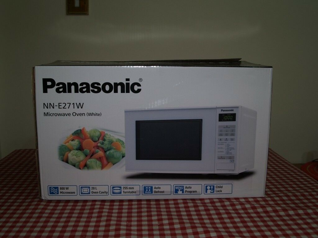 Brand New Panasonic Microwave Oven White Nn E271w In