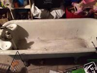 Vintage cast iron bath