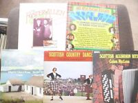 5 LP Bundle 3 Scottish and 2 Irish traditional Music collect or post, vinyl bargain!