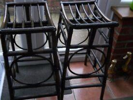 Cane stools.