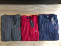 MENS RALHP LAUREN CABLE SWEATERS FOR SALE!!!