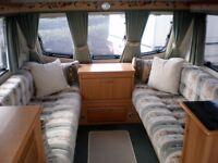 Eldiss Hurricane 2 berth caravan, year 2000, great condition, porch awning inc