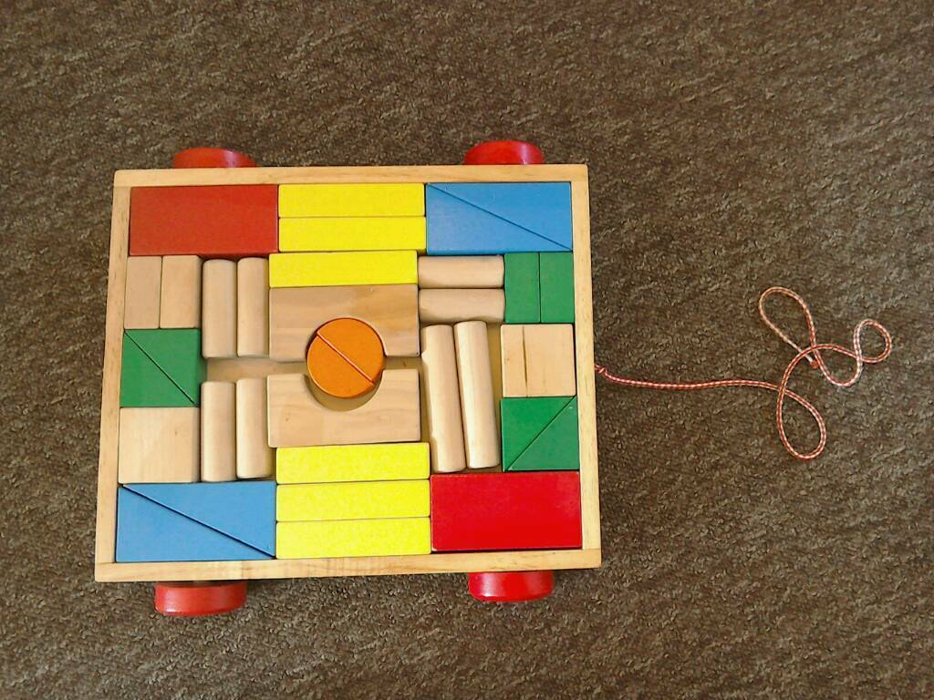 Toy Waggon with Building Blocks. £10 ono