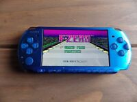 sony psp in blue good condition with 100 games included