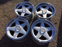 Azev deep dish alloy wheels, BMW e30, Vw Golf Mk 2 3, Mazda mx 5
