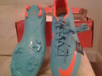For sale, football boots, Nike Mercurial, retro/orange, size 3, never been worn