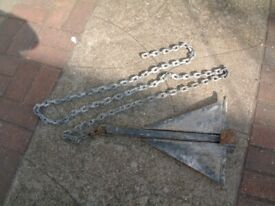 anchor 7.5kg for larger boats fishing boat sailing boats etc with chain