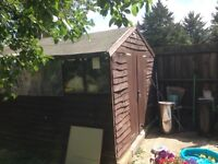 Wooden garden shed -used