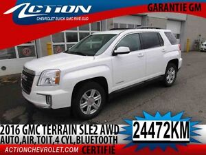 2016 GMC TERRAIN AWD SLE-2 AUTO,AIR,TOIT,4 CYL,BLUETOOTH