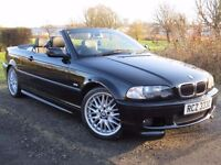 !!MSPORT!! 2003 BMW 320CI M SPORT 2.2 / MOT MAY 2017 / BLACKWITH BLACK LEATHER / DRIVES EXCELLENT /
