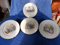 Selection of Commemorative Christmas Plates